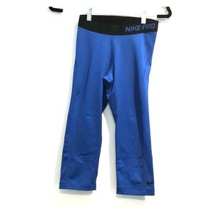 Nike Pro Navy Blue Dri-fit Crop Legging Sz S